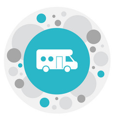 Of trip symbol on trailer icon vector