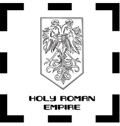 Official government ensigns of foly roman empire vector