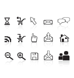 pixel computer icons vector image