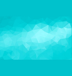 polygon cyan background vector image vector image