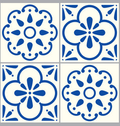 portuguese-tiles-design-pattern-2-a vector image vector image