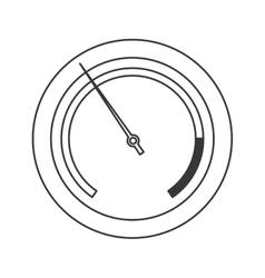 Pressure manometer icon vector
