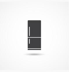 Refrigerator icon vector
