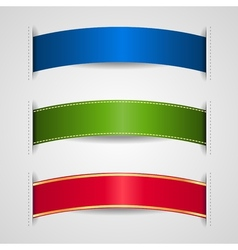 ribbons element vector image