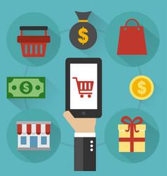 sale design flat online shopping vector image vector image