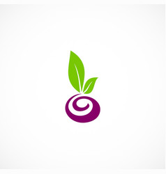 Seed plant abstract organic logo vector