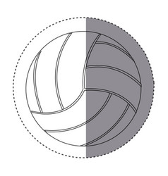 sticker silhouette volleyball icon sport vector image vector image