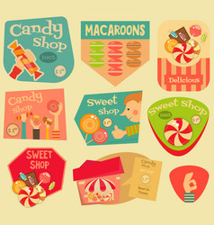 sweet stickers vector image vector image