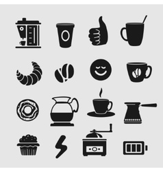 Symbol Set Coffee vector image vector image
