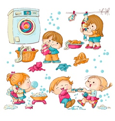 Washing vector image