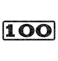 100 watermark stamp vector