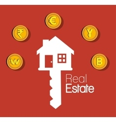 Real estate house investment isolated design vector