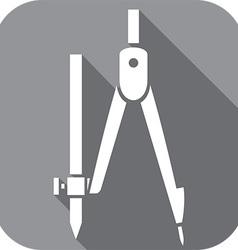 School compasses icon vector