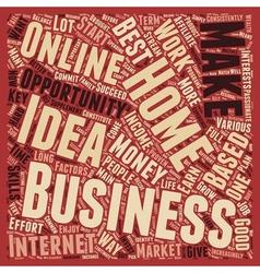 Home based business idea key factors that vector