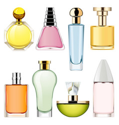 Perfume icons set 2 vector