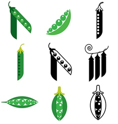 logo icons peas vector image