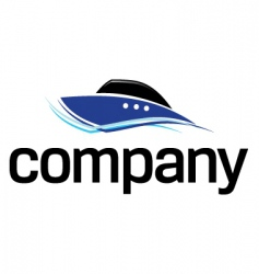 fast boat logo vector image
