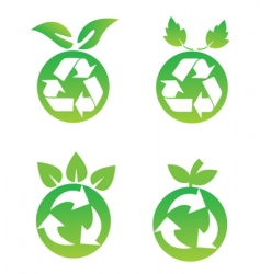Eco fruit vector