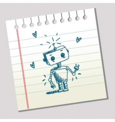 doodle robot vector image
