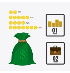 Business growth and money savings vector