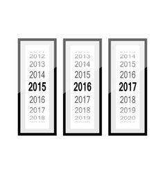 Time countdown counter year frame vector