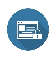 Online Security Icon Flat Design vector image