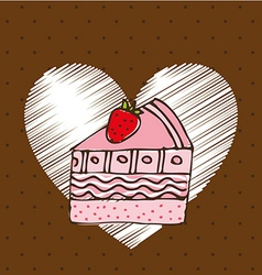 delicious cake design vector image