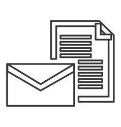 Envelope and document icon vector