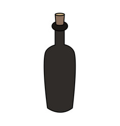 color image cartoon spa bottle with cork vector image vector image