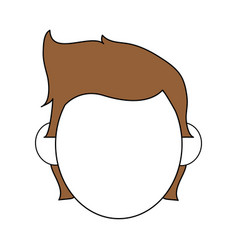Color silhouette image faceless front view man vector
