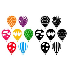 Designer Air Balloons vector image vector image