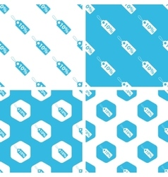 Discount patterns set vector