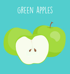 fresh green apples graphic vector image