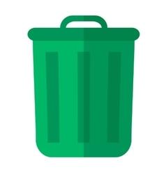 Green garbage bin vector image vector image