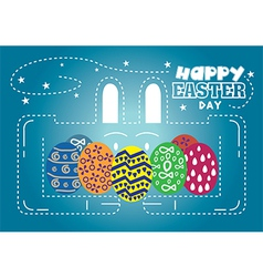 Happy Easter Day rabbit vector image