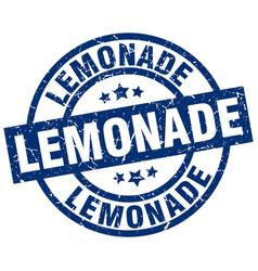 lemonade blue round grunge stamp vector image vector image