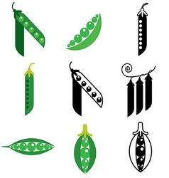 Logo icons peas vector