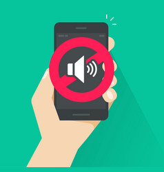 no sound sign for mobile phone vector image vector image