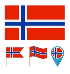 Norwaycountry flag vector image vector image