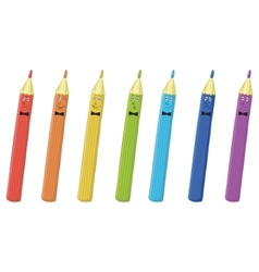 pencils smilies vector image vector image