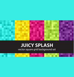 Pixel pattern set juicy splash seamless pixel vector