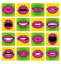 Pop art lips vector