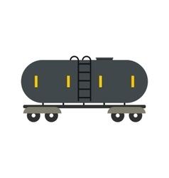 Railroad gasoline and oil tank flat icon vector