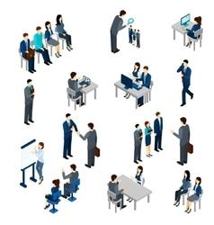 Recruitment Process Set vector image