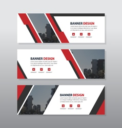 Red black abstract corporate business banner vector image vector image