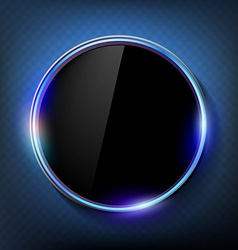 round black screen on a blue background vector image vector image