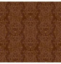 Seamless dark brown pattern vector image
