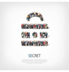 Secret people crowd vector