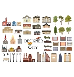 set of city infographics vector image vector image