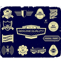 Set of vintage labels on the black Collection 1 vector image vector image